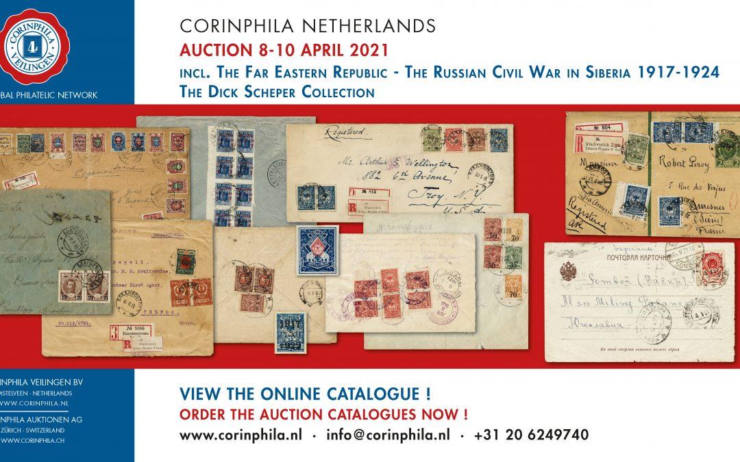 Corinphila auction of BSRP member Dick Scheper's collection
